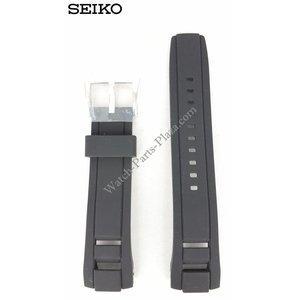 Seiko SEIKO Velatura Schwarzes Silikonarmband 22 mm SNP101