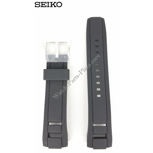 Seiko SEIKO Velatura Black Silicon Watch Band 22 mm SNP101