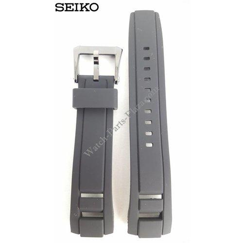 Seiko SEIKO Velatura Black Silicon Watch Band 22 mm SPC149