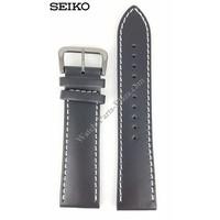 SEIKO SNDA21P1 Bracelet de montre 7T92-0JS0 Cuir de veau noir 22mm militaire
