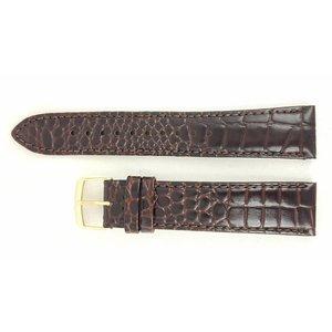 Seiko SEIKO 4A0V1KL Bracelet de montre 5M63 0AF0 en cuir marron 20 mm