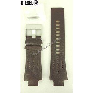 Diesel Diesel DZ4128 Pulseira de relógio Couro marrom escuro Original NEW STRAP DZ 4128 Pulseira