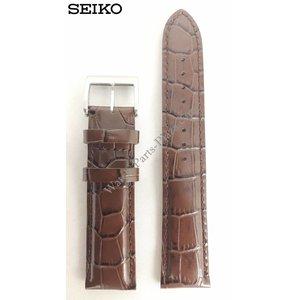 Seiko CORREA DE CUERO MARRÓN SEIKO ALPINIST SEIKO DIASHOCK SARB017 Banda de reloj SARG005