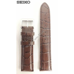 Seiko SEIKO ALPINIST BROWN LEATHER STRAP SEIKO DIASHOCK SARB017 Watch Band SARG005