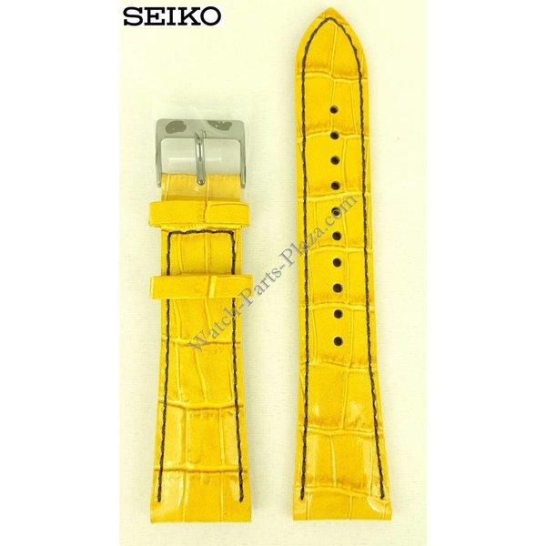 Seiko 7T92-0NK0 brown strap 22mm Pilot's