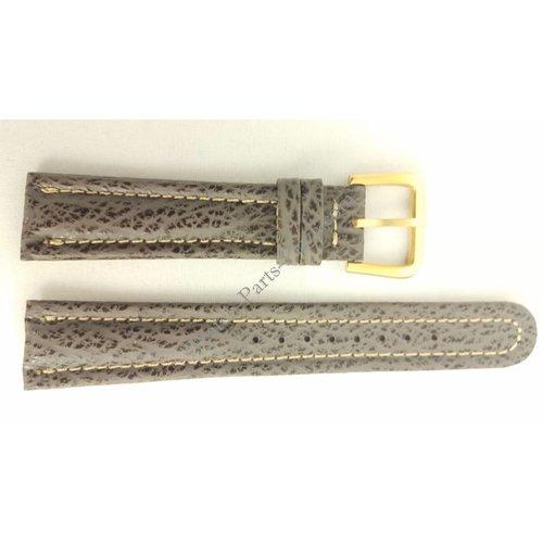 Seiko SEIKO 6F24 7010 Uhrenarmband 6M25 6000 Grau Leder 20 mm