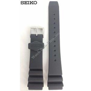 Seiko SEIKO SPORTS 100 NEGRO CORREA DE GOMA 20mm SNZF27 Banda de reloj 7S36 01Y0 OOYO SNDZ29