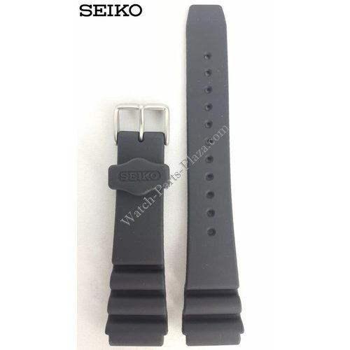 Seiko SEIKO SPORTS 100 BLACK RUBBER STRAP 20mm SNZF27 Watch Band 7S36 01Y0 OOYO SNDZ29