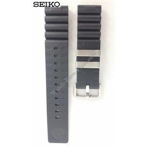 Seiko SEIKO Watchstrap SBDC007 black rubber 6R15 01D0 22 mm
