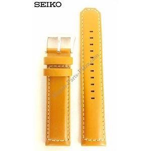Seiko Banda de reloj Seiko SSC081P2 Solar 21mm V172 0AG0 Marrón