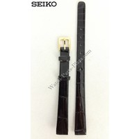 SEIKO 1N00 0C99 Watchstrap 13 mm black leather 2F50 5809