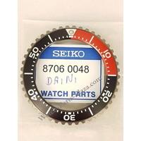 Seiko SKA577 Kinetisc zwart, rode bezel 5M82-0AF0
