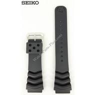 Seiko Seiko Diver Black Rubber Strap 22mm 7S26 7020 SKX171 SDS099 Watchband 7002 7029
