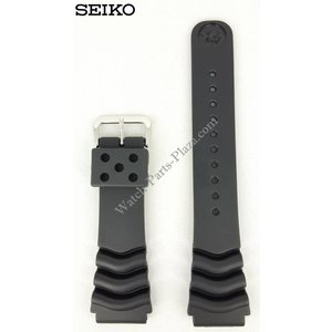 Seiko Seiko Diver Black Rubber Strap 22mm 7S26 7020 SKX171 SDS099 Watchband 7002 7029