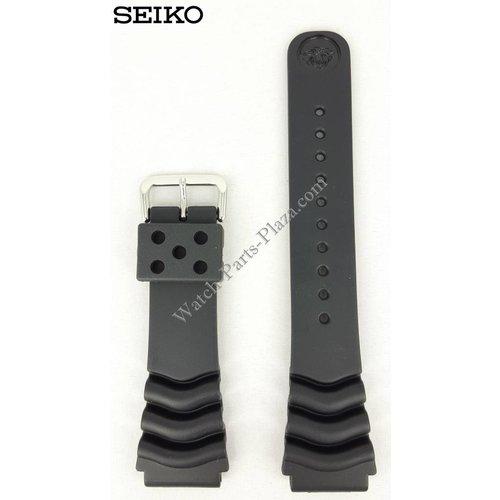 Seiko Seiko Diver Noir Bracelet en caoutchouc 22mm 7S26 7020 SKX171 SDS099 Bracelet en bande 7002 7029