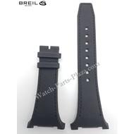 Breil BREIL MEDITERRANEO BW0581 BLACK LEATHER WATCH BAND Original STRAP BW 0581