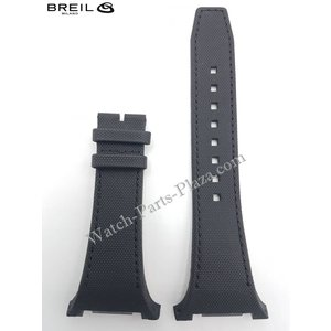 Breil BREIL MEDITERRANEO BW0581 BLACK LEATHER WATCH BAND Original STRAP BW 0581