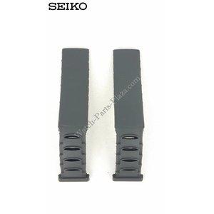 Seiko Bracelet de montre 3M22-0D30 noir Sillicon Sangle 4GD0 BA 16mm 3M22-0D39
