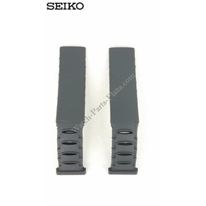 Seiko Reloj Band 3M22-0D30 Black Sillicon Strap 4GD0 BA 16mm 3M22-0D39