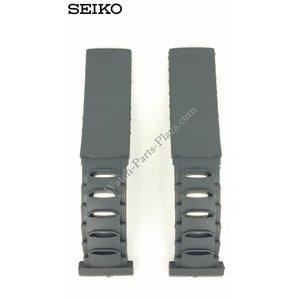 Seiko Cinturino orologio Seiko 5M42-0E30 5M42-0E39 Cinturino Sillicon 4GC9 BA 19 mm originale