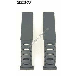 Seiko Seiko 5M42-0E30 Correa de reloj 5M42-0E39 Sillicon Band 4GC9 BA 19 mm Genuine