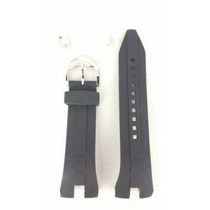 Seiko Seiko SRN011 SRN013 faixa de relógio 5M54 0AB0 preto sillicon 26mm