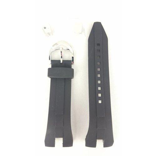 Seiko Seiko SRN011 SRN013 banda de reloj 5M54 0AB0 negro sillicon 26mm
