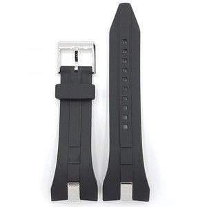 Seiko SNL051 SNAC21 SNAC19 Horlogeband 7T62-0JA0 Zwart rubberen band 28 mm