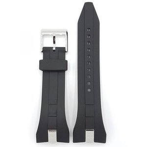 Seiko SNL051 SNAC21 SNAC19 Watch Strap 7T62-0JA0 Black rubber band 28mm