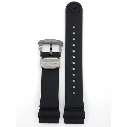 Seiko SEIKO TURTLE BLACK SILICON STRAP SRPB55 SRP777 WATCH BAND 4R35-01V0 BLACK BUCKLE
