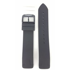 Tissot Tissot T-Race T081420A correa de reloj T603035436 negro Sillicon correa 19 mm