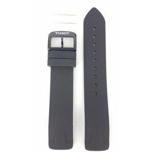Tissot Tissot T081420A Horlogeband Zwart Siliconen 19 mm