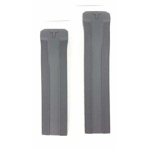 Tissot Tissot T091420A - Expert Solar Cinturino Dell'Orologio Nero Silicone 22 mm