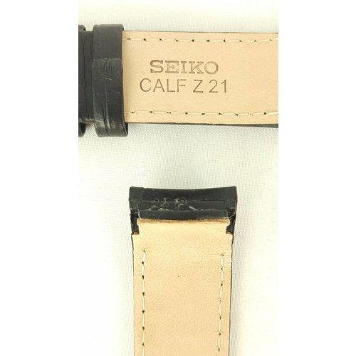 Seiko Reloj Band Seiko Premier SPB005J1 Correa de cuero negro 6R20-00A0 Original 21mm