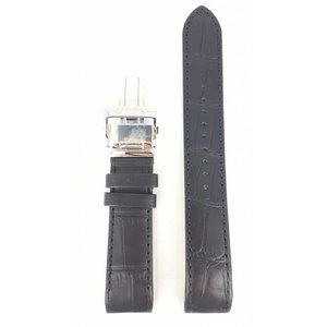 Seiko Bande de montre Seiko SPB005 6R20-00A0 21mm en cuir noir