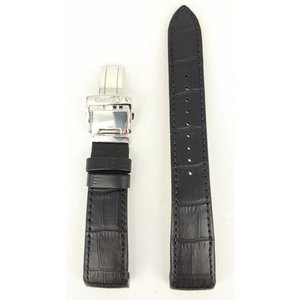 Seiko Bracelet Seiko Premier SRX003 / SRL021 / SRN005 / SPC005 en cuir noir 21mm