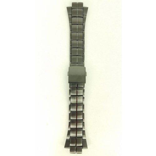 Seiko Seiko SNL029P1 Horlogeband 7L22-0AD0 Zwart Staal