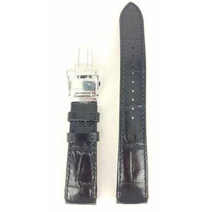 Seiko Bracelet montre Seiko 5D22-0AA0 Bracelet SRG001 / SRG003 Cuir veau noir 21mm