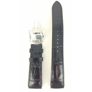 Seiko Watch Band Seiko 5D22-0AA0 Strap SRG001 / SRG003 Black Calf Leather 21mm