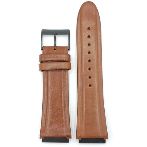 Guess Guess Rigour W0040G8 Bracelet Marron Bracelet en Cuir Véritable 22 mm