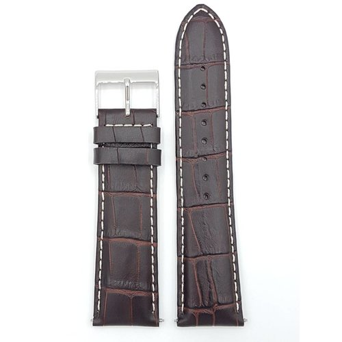 Guess Guess Newport W95046G1 Watch Band Brown Leather Strap 24 mm