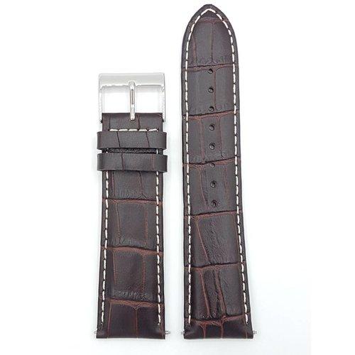Guess Guess Newport W95046G1 Bande de montre bracelet en cuir marron 24 mm