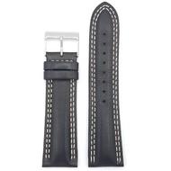 Guess Guess Newport W95046G3 horlogeband zwart leren horlogebandje 24 mm