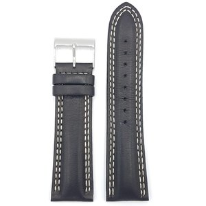 Guess Guess Newport W95046G3 Watch Band black Leather Strap 24 mm