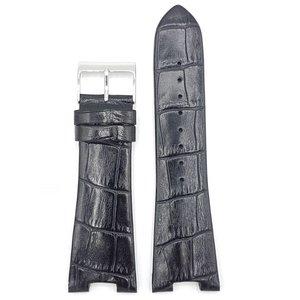 Guess Guess Prism Squared W14515L1 Reloj Band negro Correa de cuero 27mm