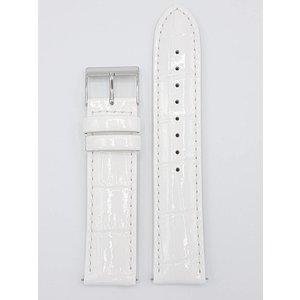 Guess Guess Swarovski W0069L1 Horlogeband wit lederen band 20 mm