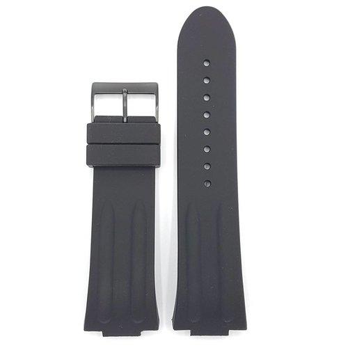Guess Guess Overdrive W12653G1 Bande de montre noir Sillicon Strap 14 mm