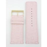 Guess Guess 85485L1 Horloge band roze textiel lederen band gouden gesp 34 mm