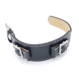 Guess Guess W0186G1 Power Up Noir Bracelet en cuir véritable bracelet 24 mm