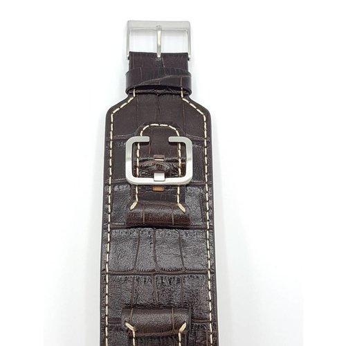 Guess Horlogeband Guess Power Up W0186G2 Bruin leren horlogebandje 24 mm